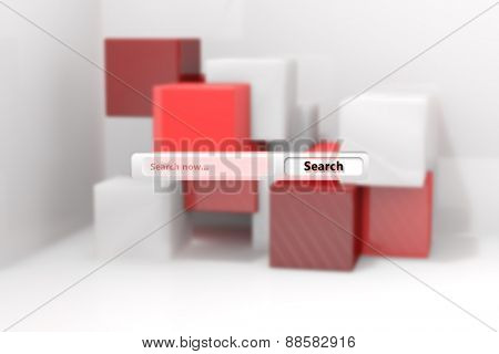 Search engine against abstract background