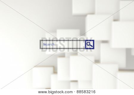 Search engine against abstract white design