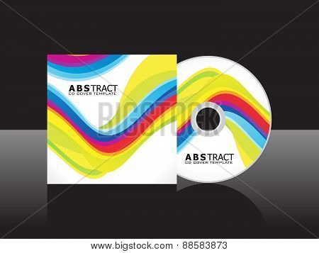Abstract Artistic Colorful Cd Cover Template