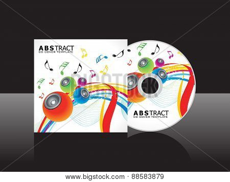 Abstract Artistic Musical Cd Cover Template
