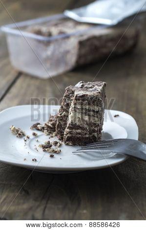 Halva With Almonds And Raisins On Plate