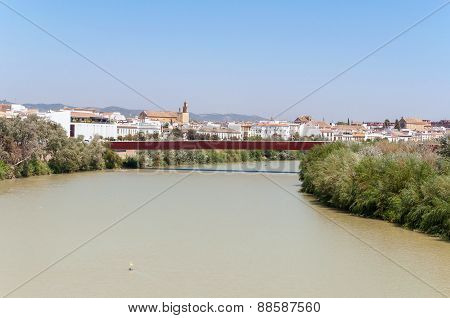 View Of Guadalquivir River In Spanish Cordoba
