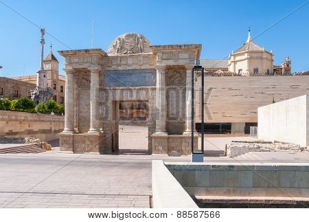 Gate Of The Bridge In Cordoba, Spain