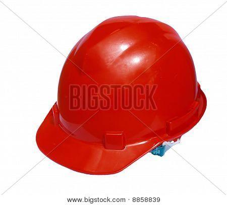 A orange safety helmet isolate on white background