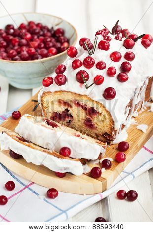 Delicious Homemade Cranberry Loaf Cake