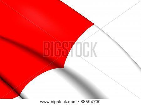 Flag Of Bilbao, Spain.