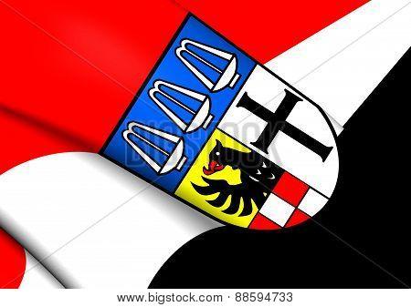 Flag Of Bad Kissingen, Germany.