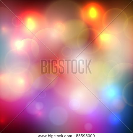 Abstract Blurred Bokeh Effect Background