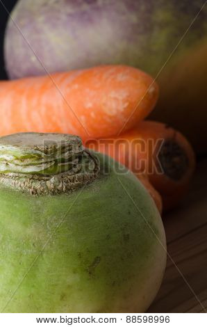 Root Vegetables Close Up