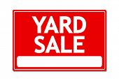 foto of yard sale  - Yard Sale Vector Sign - JPG