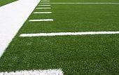 stock photo of football field  - Yard Lines of a American Football Field - JPG