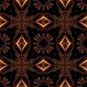 foto of celtic  - Abstract celtic metallic bronze pattern made seamless - JPG