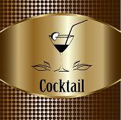 picture of cocktail menu  - beautiful cocktail glass design vector menu background - JPG
