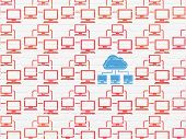 picture of wall cloud  - Cloud networking concept - JPG
