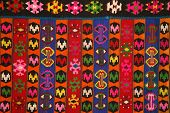 stock photo of serbia  - Traditional artistic handmade rug with a pattern from Serbia - JPG