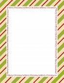 foto of striping  - Retro striped frame with red and green stripes with merry christmas letters - JPG
