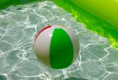 picture of pool ball  - Beach Ball in a Pool - JPG