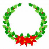 picture of christmas flower  - Beautiful Christmas wreath  - JPG