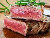 stock photo of porterhouse steak  - beef steak - JPG
