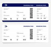 image of boarding pass  - Airline boarding pass ticket for traveling by plane - JPG