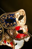 stock photo of venetian carnival  - Traditional Venetian carnival mask - JPG