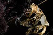 picture of venetian carnival  - Traditional Venetian carnival mask - JPG
