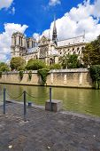 picture of notre dame  - The Cathedral of Notre Dame de Paris France - JPG