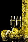 stock photo of flute  - New Year - JPG