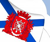 foto of bandeiras  - 3D Flag of Rio de Janeiro - JPG