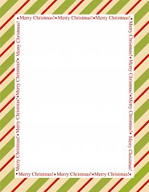 pic of candy cane border  - Retro striped frame with red and green stripes with merry christmas letters - JPG