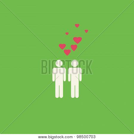 Gay Hearts Graphic