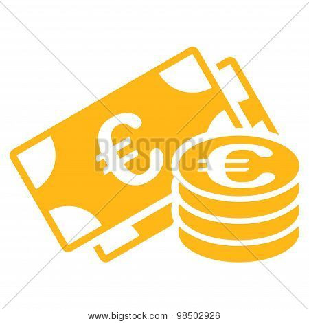 Euro cash icon from BiColor Euro Banking Set