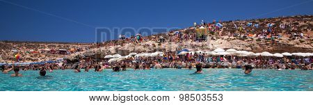 Sunbathing At Blue Lagoon - Comino, Malta
