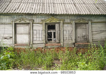 The Windows Of The Old Wooden House