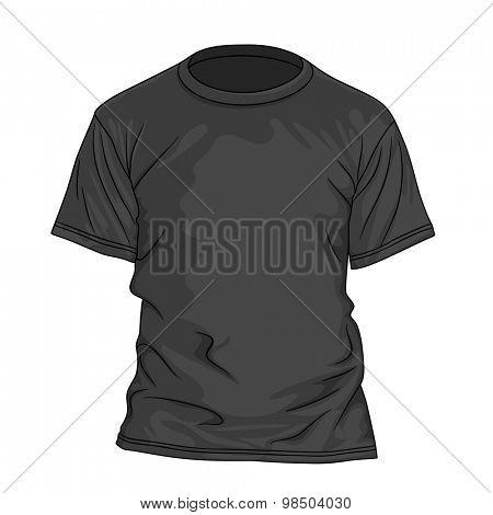 Black t-shirt. Design template. Vector illustration