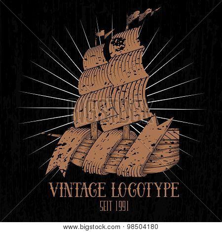 Vintage Ship Logotype