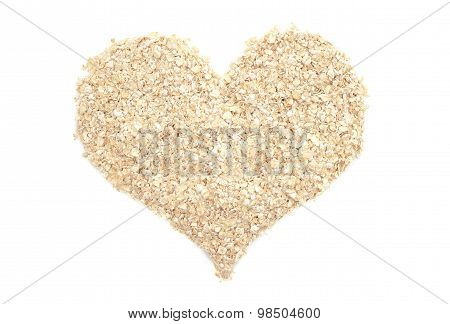 Porridge Oats In A Heart Shape