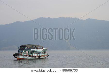 ferry on the lake Toba