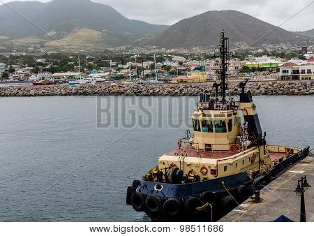 Yellow Red And Blue Tug