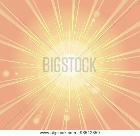 Sunburst, Ray Retro Background