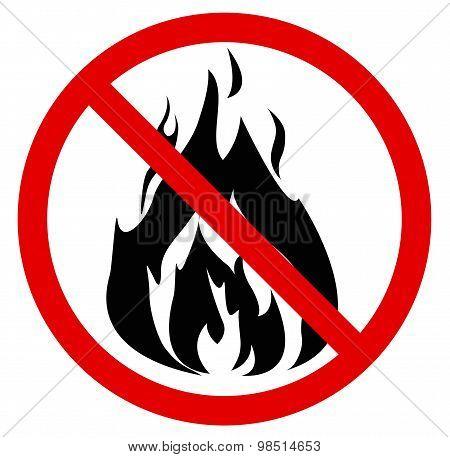 No fire. Vector illustration