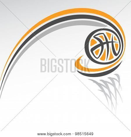 The image on the basketball theme