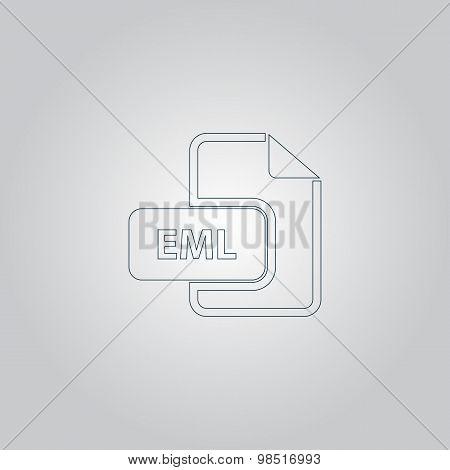 Eml file format icon vector.
