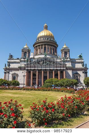 Saint Isaac Cathedral In St. Petersburg