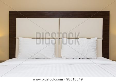 Bedroom With Headboard Leather And Wood