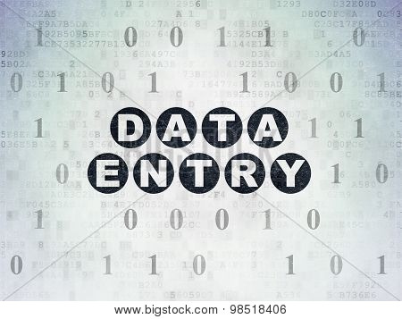 Data concept: Data Entry on Digital Paper background