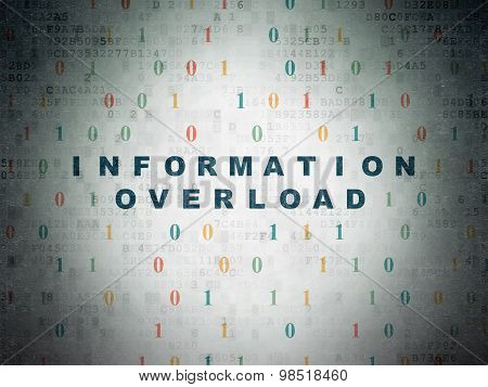 Data concept: Information Overload on Digital Paper background
