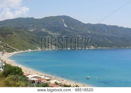 View At Agios Georgios Pagon Beach At Corfu Greece