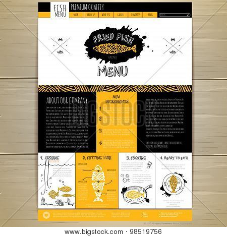 Seafood Concept Web Site Design. Corporate Identity.