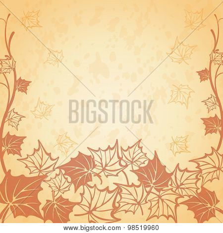 Vector illustration of a beautiful autumn background